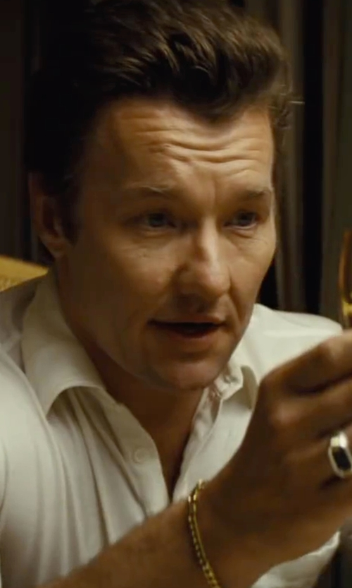 Joel Edgerton with JCPenny Semi-Solid Curb Bracelet in Black Mass