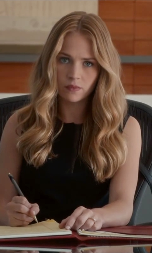 Britt Robertson with Office Star Mesh Screen Back And Mesh Seat Manager Chair in The Longest Ride