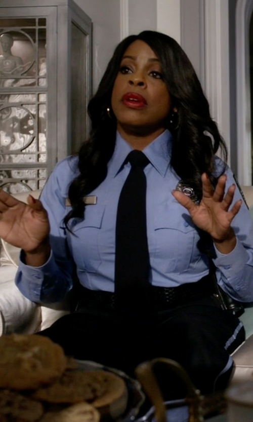 Niecy Nash with Sentry Plus Women's Uniform Trousers in Scream Queens