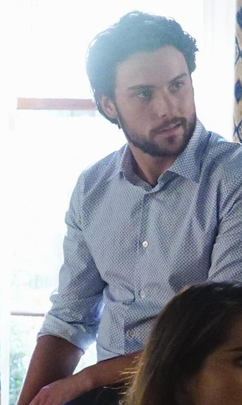 Jack Falahee with Saks Fifth Avenue Collection Trim Fit Dress Shirt Cotton Shirt in How To Get Away With Murder