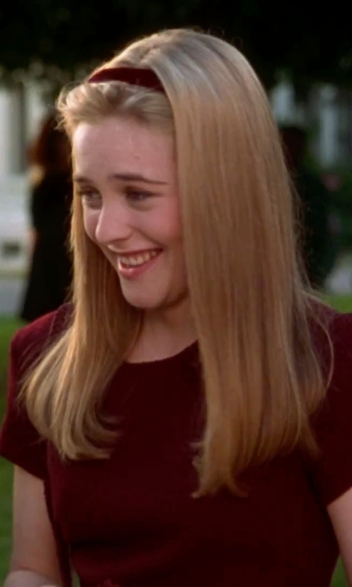 Alicia Silverstone with L. Erickson Leather Headband in Clueless