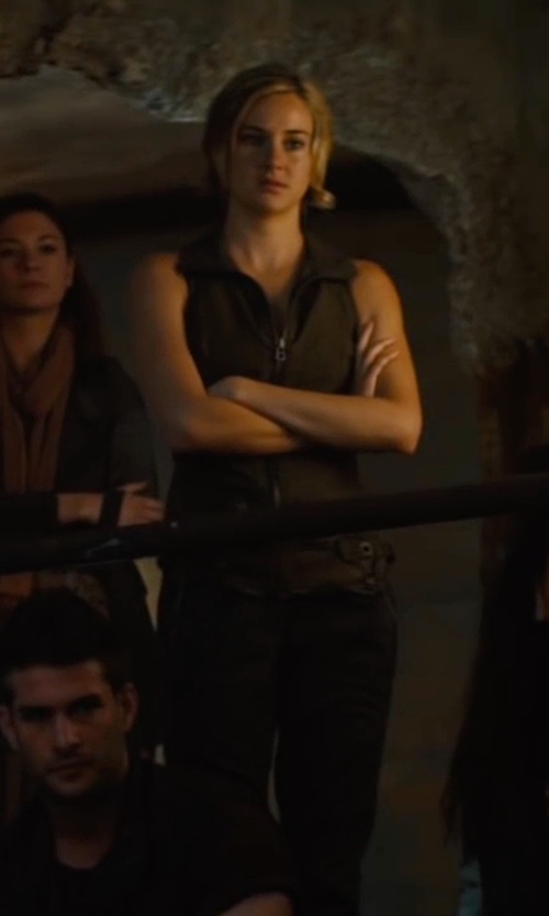 Shailene Woodley with Prana Halle Pant in The Divergent Series: Allegiant