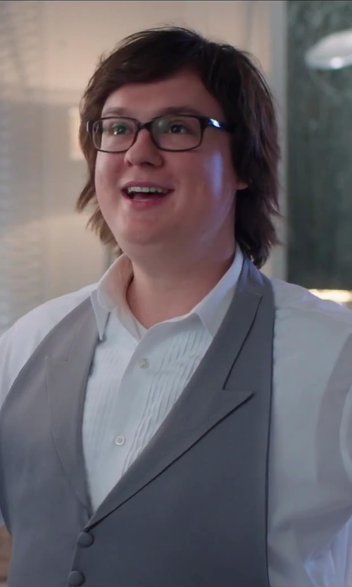Clark Duke with Oliver Peoples Black NDG-1 Wayfarer Sunglasses in Hot Tub Time Machine 2