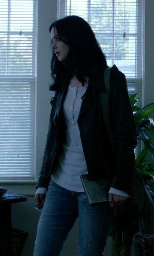 Krysten Ritter with Citizens Of Humanity Emerson Slim Boyfriend Echo Jeans in Jessica Jones