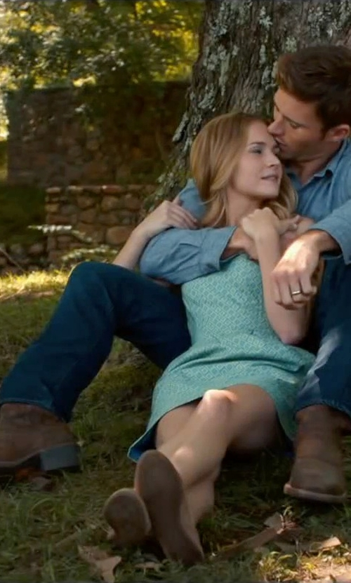 Scott Eastwood with Ariat Heritage Roughstock Square Toe Boots in The Longest Ride