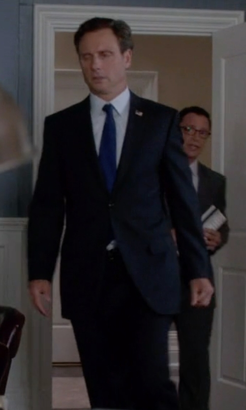 Tony Goldwyn with Brioni Check Pattern Suit in Scandal