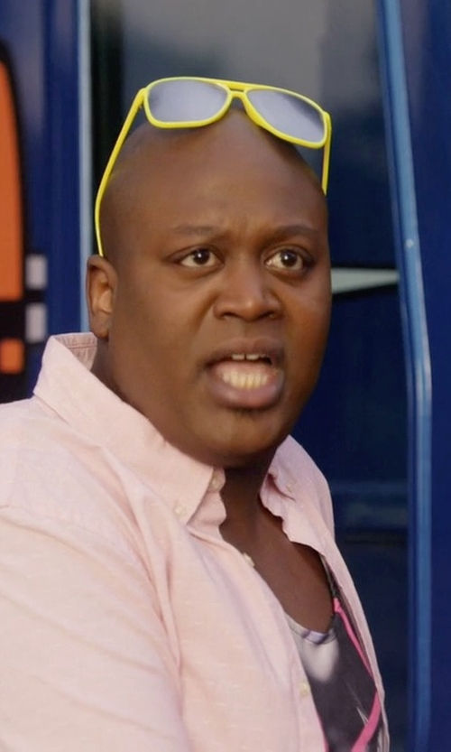 Tituss Burgess with Adidas Whipstart Rectangular Sunglasses in Unbreakable Kimmy Schmidt