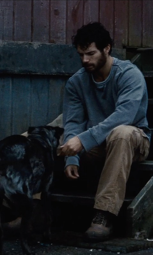 Henry Cavill with Gant Rugger Canvas Cargo Pants in Man of Steel