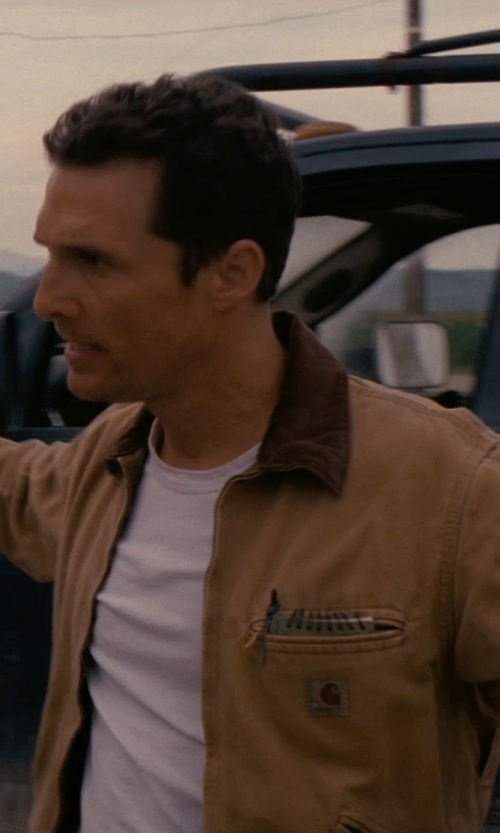 Matthew McConaughey with BLK DNM Classic Crew Neck T-Shirt in Interstellar