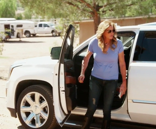 Caitlyn Jenner with Cadillac Escalade SUV in Keeping Up With The Kardashians