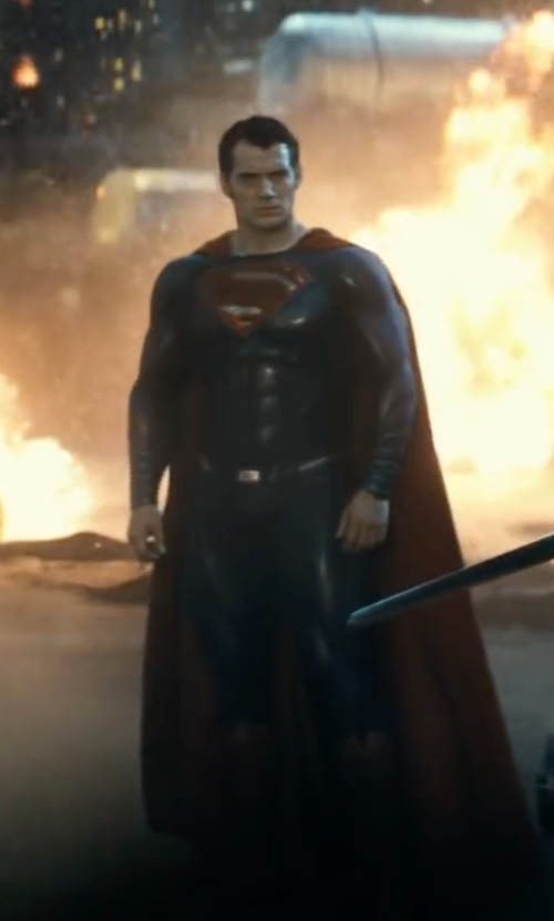 Henry Cavill with Mattel Dawn of Justice Superman Figure in Batman v Superman: Dawn of Justice