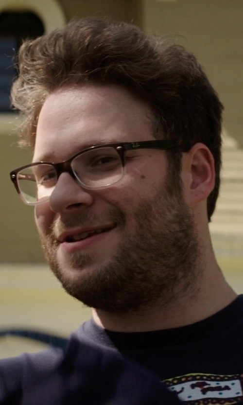 Seth Rogen with Ray-Ban RX5228 5043 Gradient Eyeglasses in Neighbors