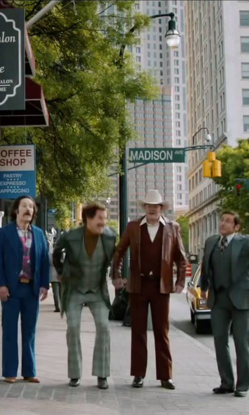 Paul Rudd with Steve Madden Rumerr Oxford shoes in Anchorman 2: The Legend Continues