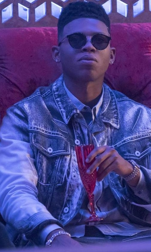 Bryshere Y. Gray with Frost NYC Hollow Pave Miami Cuban Link Bracelet in Empire