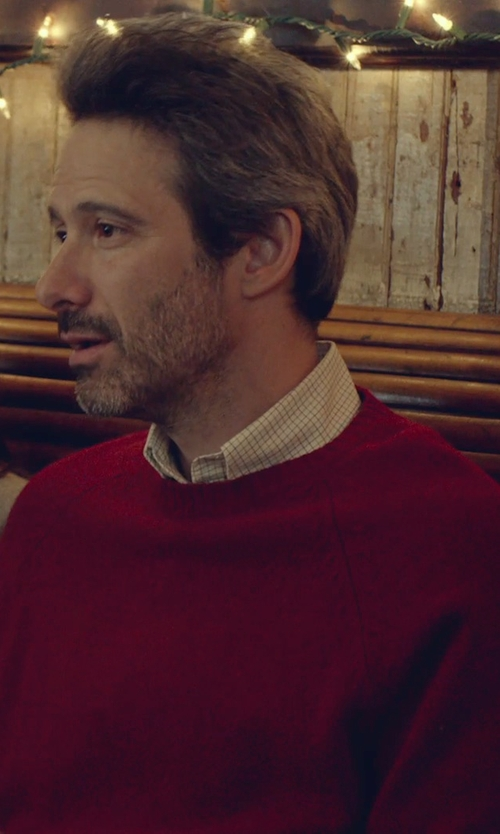 Adam Horovitz with Brooks Brothers Shetland Crewneck Sweater in While We're Young