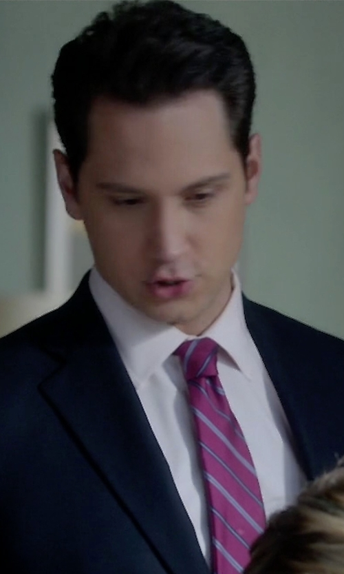 Matt McGorry with Ted Baker London Stripe Silk Tie in How To Get Away With Murder