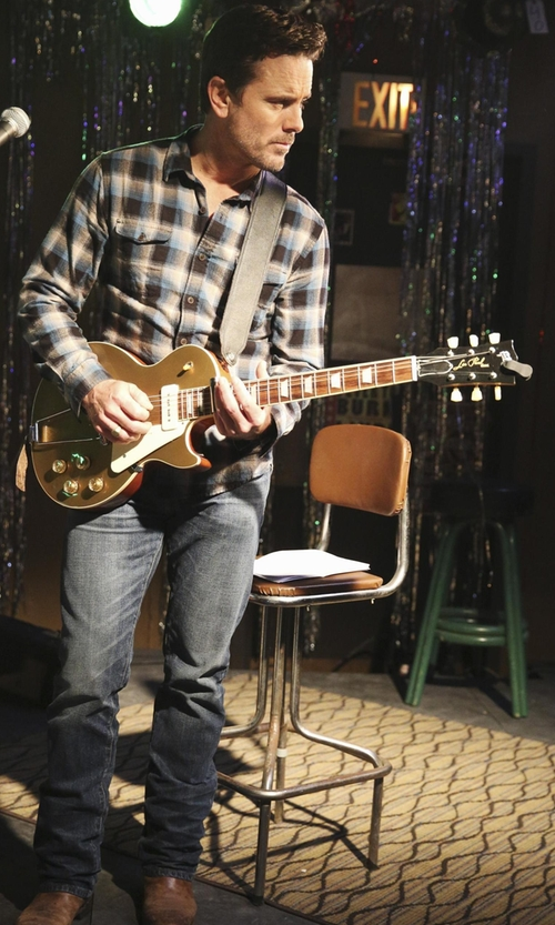 Charles Esten with Gibson 1952 Les Paul Gold Top  Electric Guitar in Nashville