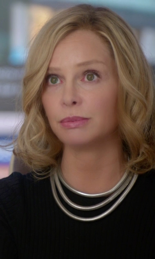 Calista Flockhart with Bcbgeneration Multi-Row Coil Necklace in Supergirl