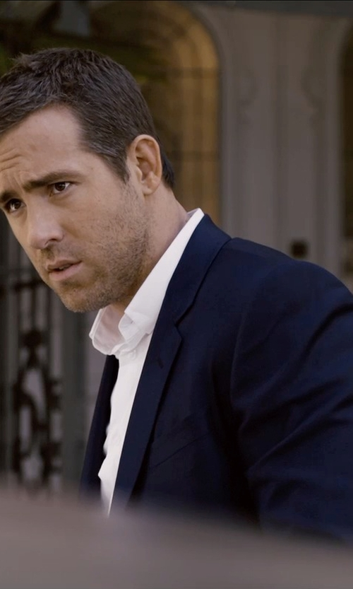 Ryan Reynolds with Hugo Boss Grand Central Two-Piece Suit in Self/Less