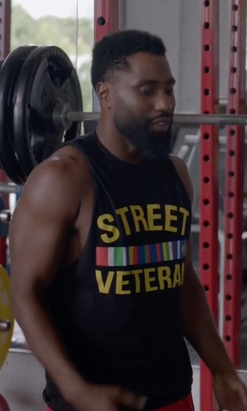 John David Washington with Claw & Co Street Veteran Tee Shirt in Ballers