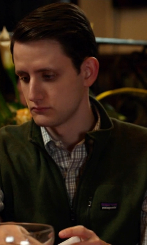 Zach Woods with Patagonia Better Sweater Vest in Silicon Valley