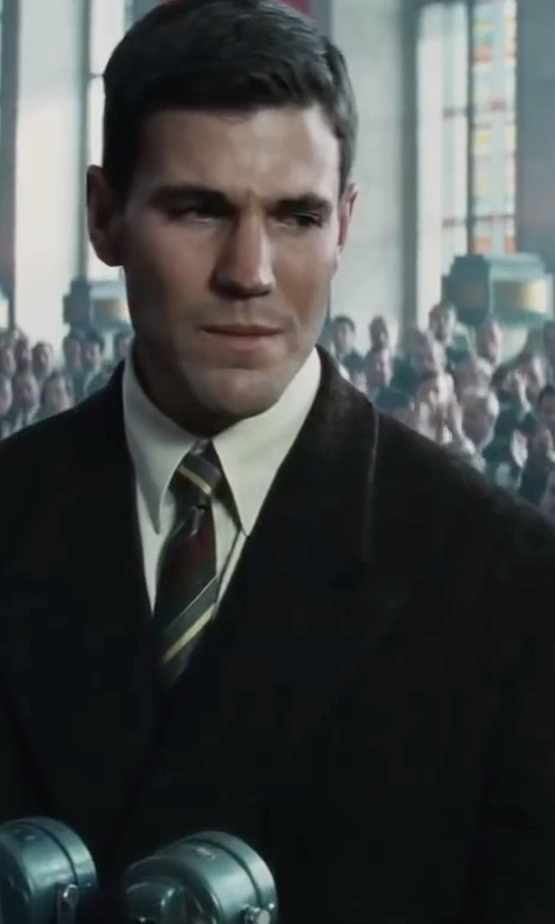 Austin Stowell with Dolce & Gabbana Slim Fit Suit in Bridge of Spies