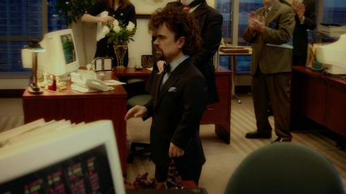 Peter Dinklage with Canali Checked Suit in The Boss
