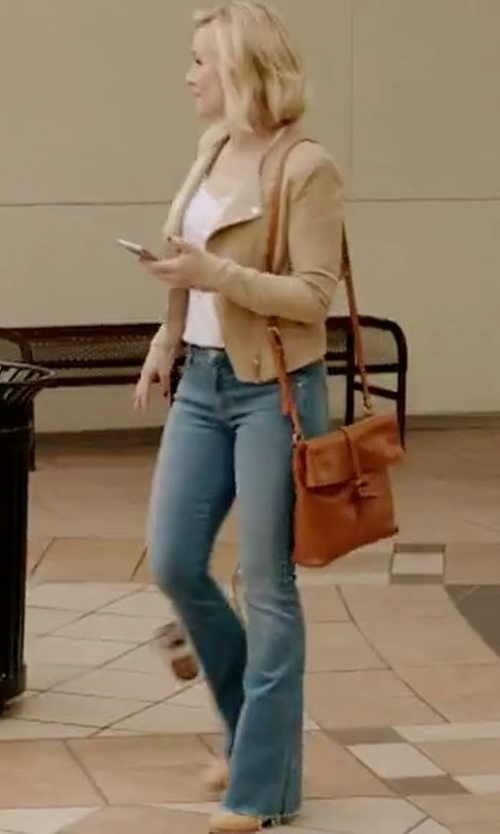 Kristen Bell with NYDJ 'Farrah' Stretch Flare Leg Jeans in The Good Place