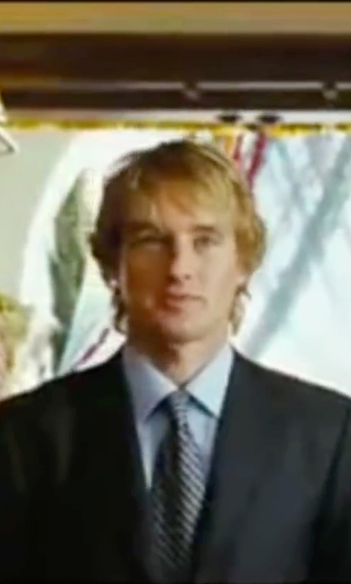 Owen Wilson with Theory Norten Roadster Stripe Skinny Tie in Wedding Crashers