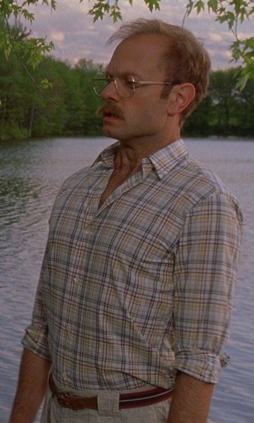 David Hyde Pierce with Kenneth Cole New York Slim-Fit Plaid Shirt in Wet Hot American Summer