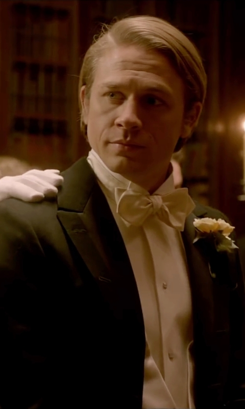 Charlie Hunnam with Brooks Brothers Golden Fleece Tails in Crimson Peak