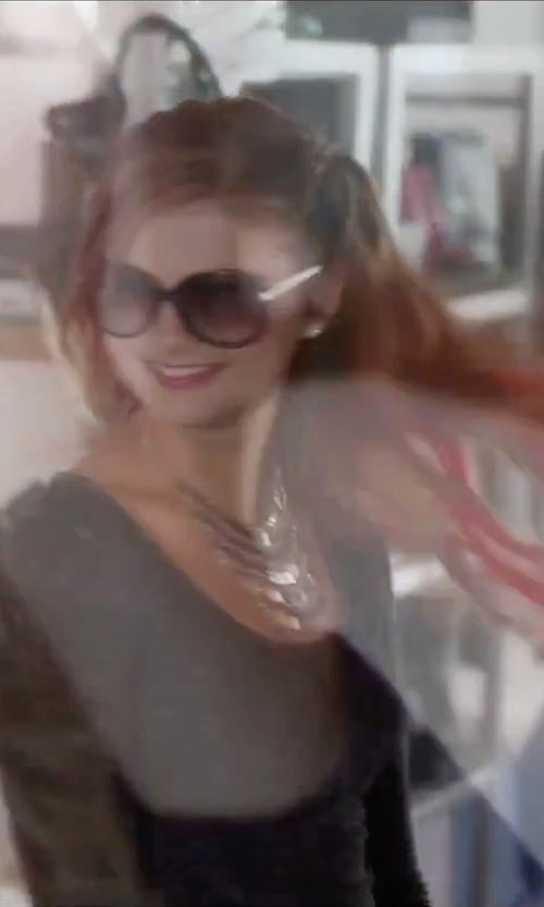 Stefanie Scott with Polarone Fashion Style Polarized Sunglasses in Jem and the Holograms