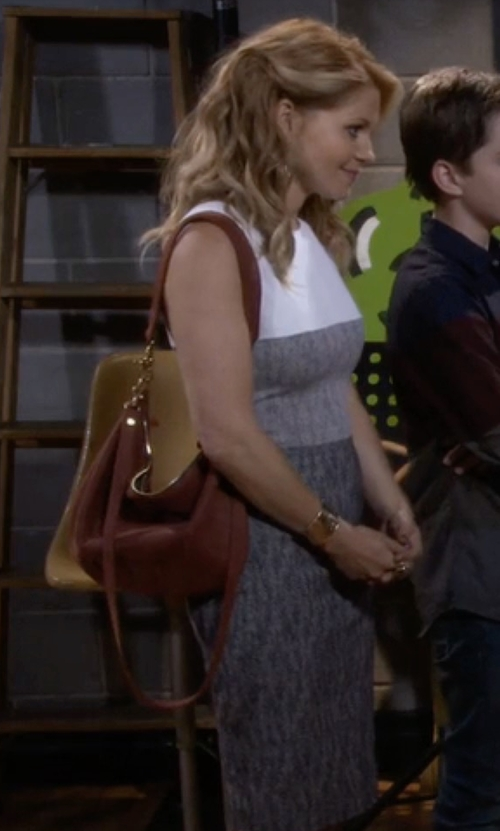 Candace Cameron Bure with Hobo Vale Hobo Bag in Fuller House