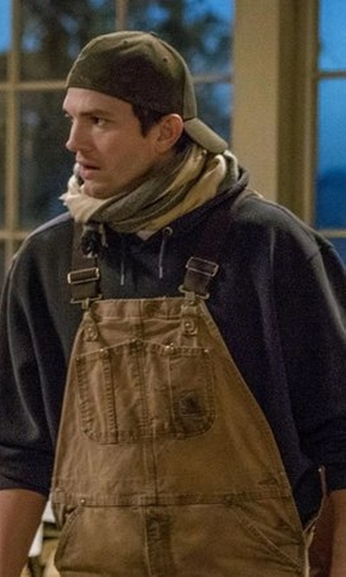 Ashton Kutcher with Carhartt Bib Overalls in The Ranch