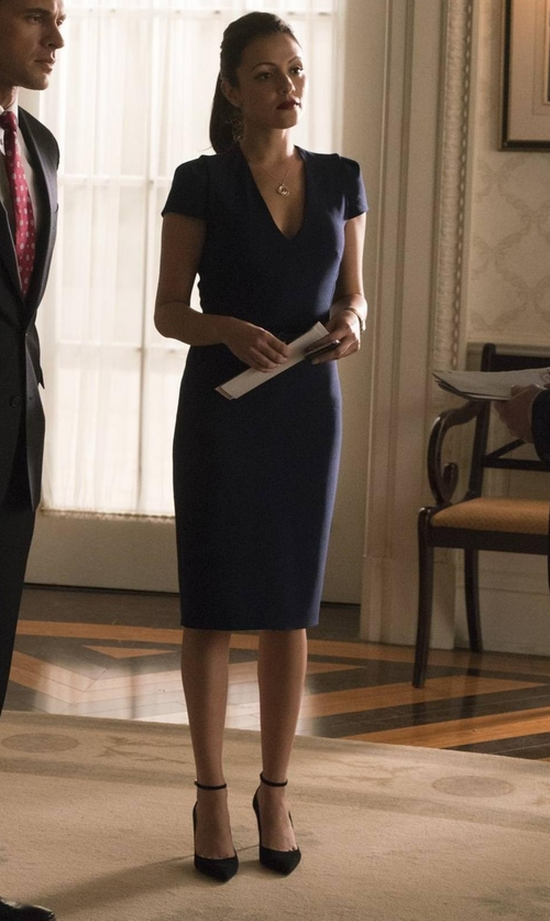 Italia Ricci with Jimmy Choo Lucy Half D'Orsay Pointy Toe Pumps in Designated Survivor