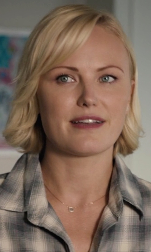 Malin Akerman with Ippolita Gold Mini-Lollipop Birthstone Necklace in Billions