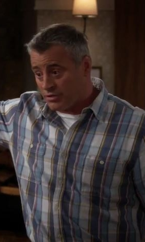 Matt LeBlanc with Peter Millar End on End Regular Fit Plaid Sport Shirt in Man With A Plan