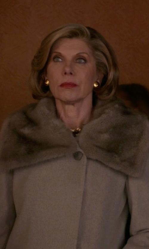Christine Baranski with BB Dakota Daylin Faux Fur Coat in The Good Wife