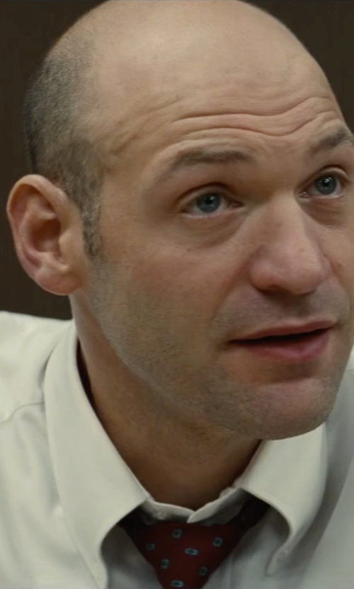 Corey Stoll with John W. Nordstrom 'Lambert Neat' Medallion Silk Tie in Black Mass