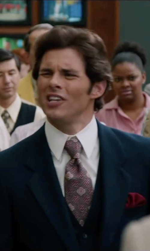 James Marsden with Dolce & Gabbana Regular-Fit Stretch Cotton Woven Dress Shirt in Anchorman 2: The Legend Continues