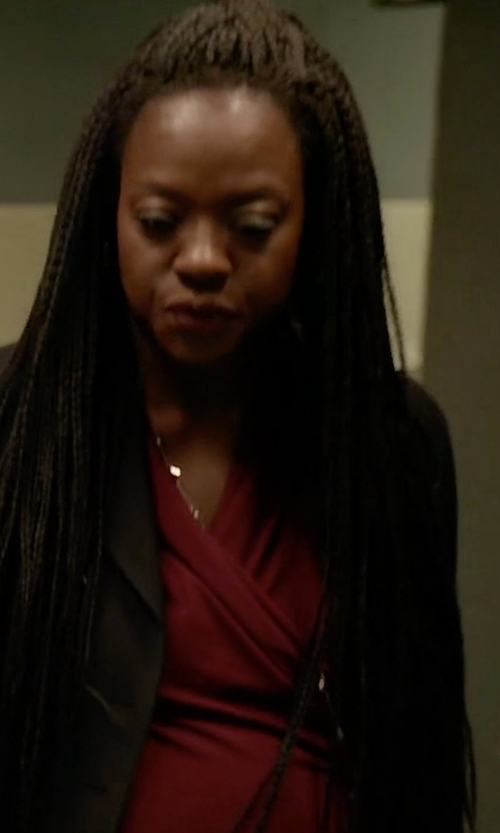Viola Davis with Parker Country Quilt-Trim Blouson Top in How To Get Away With Murder