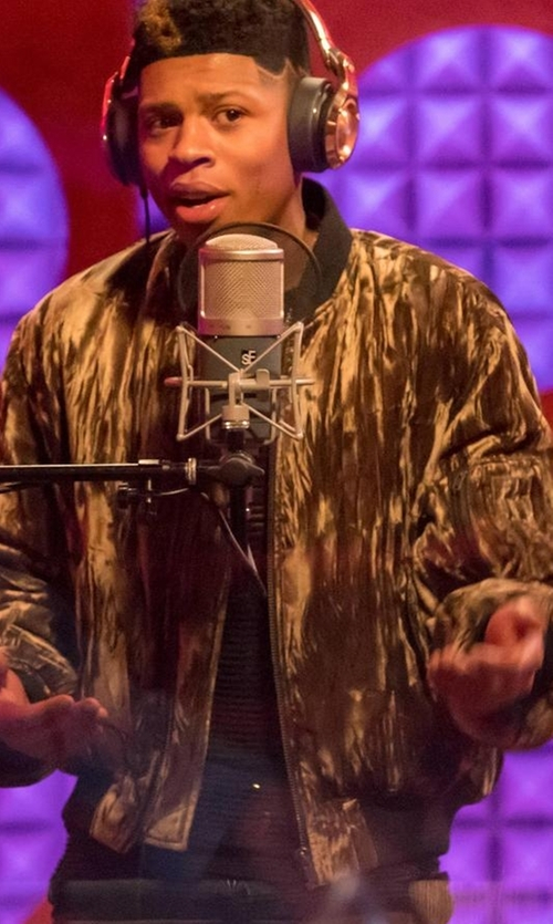 Bryshere Y. Gray with Valentino Tie-Dye Zip-Up Bomber Jacket in Empire