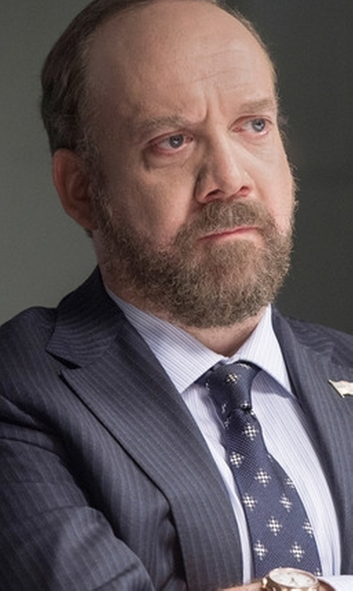 Paul Giamatti with Bulova Classic Stainless Steel Watch in Billions