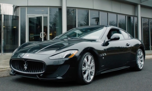 Maggie Siff with Maserati Granturismo Sport Coupe in Billions