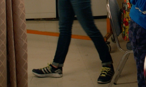 Brittany Snow with Adidas Energy Boost Sneakers in Pitch Perfect 2