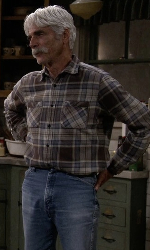 Sam Elliott with Grayers Webster Summer Twill Shirt in The Ranch