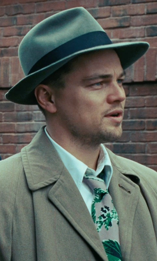 Leonardo DiCaprio with Sandy Powell (Costume Designer) Custom Made Fedora Hat (Leonardo DiCaprio) in Shutter Island
