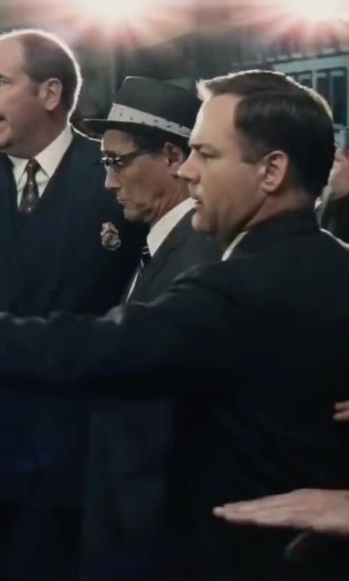 Mark Rylance with Boss Hugo Boss 'Ilias' Slim Fit French Cuff Dress Shirt in Bridge of Spies