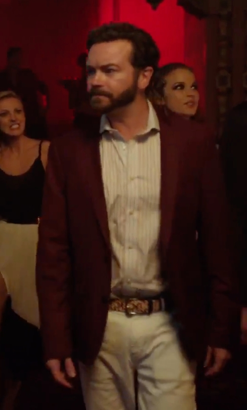 Danny Masterson with Gucci GG Monogram Reversible Belt in Urge