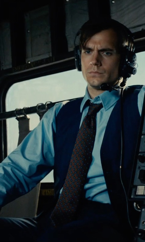 Henry Cavill with Asos Slim Fit Tuxedo Suit Pants in The Man from U.N.C.L.E.